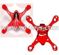 MJX X701 RC Quadcopter parts-11 Upper shell cover,Upper canopy & Bottom shell cover,Bottom canopy-Red