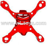 MJX X701 RC Quadcopter parts-13 Bottom shell cover,Bottom canopy-Gray-Red