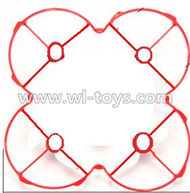 MJX X701 RC Quadcopter parts-18 Ourter protect frame-Red