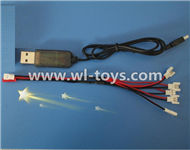 MJX X701 RC Quadcopter parts-26 USB & 1-to-5 Cable ((Not include the 5 battery)