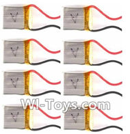 MJX X909T X909 Spare Parts-11-03 3.7v 380mah Battery(8pcs),MJX X909T X909-T RC Quadcopter Drone Spare Parts Replacement Accessories