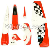 Wltoys F929 parts Outer foam shell unit(Include the Main Wing,Upper and Bottom Foam Fuselage Body,Tail cover,Horizontal and verticall wing) For WLtoys F929 RC AirPlane parts