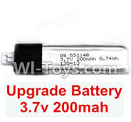 Wltoys F929 Battery Partts. 3.7v 200mah Lipo Battery(1pcs). WLtoys F929 RC AirPlane parts RC Fixed Wing Plane parts