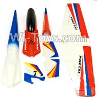 Wltoys F939 Outer foam shell unit(Include the Main Wing,Upper and Bottom Foam Fuselage Body,Tail cover,Horizontal and verticall wing) For WLtoys F939 RC AirPlane parts