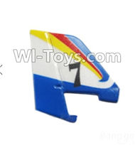 Wltoys F939 parts Verticall tail wing,Verticall Balance empennage. WLtoys F939 RC AirPlane Parts RC Fixed Wing Plane parts.