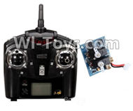 Wltoys F939 parts Transmitter & Circuit board. WLtoys F939 RC AirPlane Parts RC Fixed Wing Plane parts.