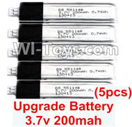 Wltoys F939 Upgrade Battery. 3.7v 200mah Lipo Battery. Total 5pcs. WLtoys F939 RC AirPlane Parts RC Fixed Wing Plane parts.