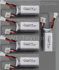 Wltoys F959 Parts RC Battery Parts,Total 5pcs. F959-10 F959 liPo Battery,7.4v 300mah RC Battery Packs.