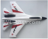 XK A100 J11 Parts-Fuselage Body Parts-White-A100.0002.001,XK A100-SU27 J11 RC Plane Parts