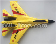 XK A100 J11 Parts-Fuselage Body Parts-Yellow-A100.0002.002,XK A100-SU27 J11 RC Plane Parts