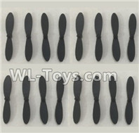 XK A100 J11 Parts-Propellers,Main rotor blades(16pcs)-A100.0005,XK A100-SU27 J11 RC Plane Parts