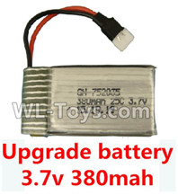 XK A100 J11 Parts-Upgrade Battery-3.7V 380mah Battery 25-(Size-3.9X2X0.7CM)-1pcs,XK A100-SU27 J11 RC Plane Parts