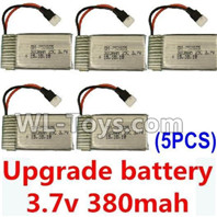XK A100 J11 Parts-Upgrade Battery-3.7V 380mah Battery 25-(Size-3.9X2X0.7CM)-5pcs,XK A100-SU27 J11 RC Plane Parts