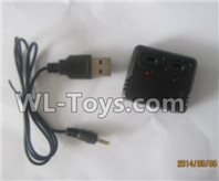 XK A100 J11 Parts-Charger and USB Charger(Official)-V966.027,XK A100-SU27 J11 RC Plane Parts
