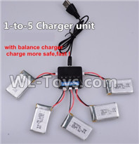 XK A100 J11 Parts-Upgrade 1-to-5 charger and balance charger(Not include the 5 battery),XK A100-SU27 J11 RC Plane Parts
