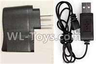 XK A100 J11 Parts-Straight conversion plug & USB Charger,XK A100-SU27 J11 RC Plane Parts