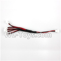 XK A100 J11 Parts-Upgrade 1-to-5 Plug wire(Small White-to-White Plug),XK A100-SU27 J11 RC Plane Parts