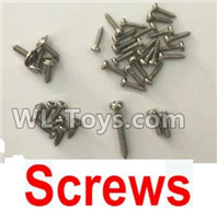 XK A100 J11 Parts-Spare Parts-Screws set,XK A100-SU27 J11 RC Plane Parts