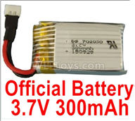Wltoys XK A120 Parts-Battery Parts-Official 3.7V 300mah Battery(1pcs)-A100.0011,Wltoys XK A120 Airbus A380 Plane Parts