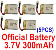 Wltoys XK A120 Parts-Battery Parts-Official 3.7V 300mah Battery(5pcs)-A100.0011,Wltoys XK A120 Airbus A380 Plane Parts