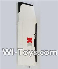 XK A1200 Parts-Left main wing unit,All parts are assembled(Include the Servo,Left main EPO Foam Wing,Swing arm,Fixed parts,screws,8X8CM Squre tube,etc.),Wltoys XK A1200 RTF AirPlane Parts Accessories,XK A1200 fpv plane RC Fixed Wing Plane Parts