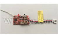 Wltoys XK A130-Y20 Parts-Receiver board,Circuit board-A130.0009,XK A130-Y20 RC Plane Drone Parts,A130-Y20 C-17 RC Plane Parts
