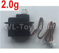 Wltoys XK A130-Y20 Parts-2.0g Servo,Steering Servo Parts-A120.0010,XK A130-Y20 RC Plane Drone Parts,A130-Y20 C-17 RC Plane Parts