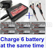 Wltoys XK A180 Parts-Upgrade charger and balance charger & 2pcs 1-To-3 convert wire & 6pcs battery-Total can charge 6x battery and the same time