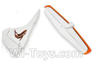 Wltoys XK A600 Parts-Horizontal and Verticall Tail Wing Set,Wltoys XK A600 RC Plane Parts,XK DHC-2 A600 RC RC Fixed Wing Plane Parts