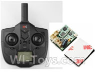 XK DHC-2 A600 Parts-Transmitter & Circuit board,Wltoys XK A600 RC Plane Parts,XK DHC-2 A600 RC RC Fixed Wing Plane Parts