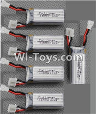 XK A700 Parts-Lipo Batteries-Official 7.4v 300mah 20C Battery(5pcs)-XK.2.A700.010,XK A700 Sky Dancer RC Plane Parts Accessories,XK A700 Skydancer RC Fixed Wing Plane Replacement Parts
