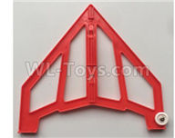 XK X420 Parts-Left Verticall Tail Wing Set Parts-Red-X420.0004,Wltoys XK X420 simulator Plane Parts