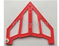XK X420 Parts-Right Verticall Tail Wing Se Partst-Red-X420.0005,Wltoys XK X420 simulator Plane Parts
