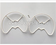 XK X420 simulator Parts-Protective frame Parts-White-X420.0006,Wltoys XK X420 simulator Plane Parts