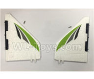 XK X450 Parts-Verticall Tail Wing Set Parts-X450.0002,XK A450 Vtol Aviator Parts,XK X450 RC Plane Parts
