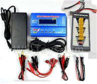 XK X450 Parts-Upgrade Charger unit,Can charger 6x battery at the same time(Power & B6 Charger & 1-To-6 Parallel charging Board),XK A450 Vtol Aviator Parts,XK X450 RC Plane Parts