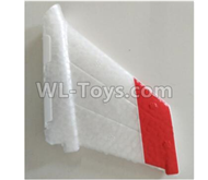 Wltoys F500 Spare Parts X520.0002 Verticall Tail Wing Set,Wltoys F500 RC AirPlane Spare Parts Accessories,Wltoys F500 RC Fixed Wing Plane Parts