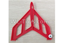 Wltoys F500 Spare Parts X520.0003 Left Verticall Tail Wing Set-Red,Wltoys F500 RC AirPlane Spare Parts Accessories,Wltoys F500 RC Fixed Wing Plane Parts
