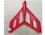 Wltoys F500 Spare Parts X520.0004 Right Verticall Tail Wing Set-Red,Wltoys F500 RC AirPlane Spare Parts Accessories,Wltoys F500 RC Fixed Wing Plane Parts