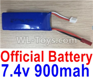 Wltoys F500 Spare Parts X520.0013-01 Official 7.4V 900mah Battery(1pcs),Wltoys F500 RC AirPlane Spare Parts Accessories,Wltoys F500 RC Fixed Wing Plane Parts