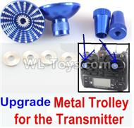 Wltoys F500 Spare Parts X520.0014-04 Upgrade Metal Trolley for the Transmitter-Blue(Can be used for XK A600),Wltoys F500 RC AirPlane Spare Parts Accessories,Wltoys F500 RC Fixed Wing Plane Parts