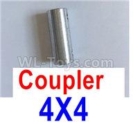 Feilun FT011 Parts-Coupler-4X4mm-Silver,feilun ft011 mods Parts,feilun ft011 tuning Parts