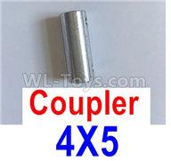 Feilun FT011 Parts-Coupler-4X5mm-Silver,feilun ft011 mods Parts,feilun ft011 tuning Parts