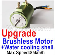 Feilun FT012 Upgrade Brushless Motor Parts(Max speed-85km/h) + Water cooling shell Parts,Feilun FT012 Tuning Parts Feilun FT012 Mods Parts,