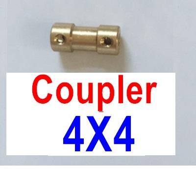 Feilun FT012 Parts-Coupler-4X4mm-Golden,Feilun FT012 Tuning Parts Feilun FT012 Mods Parts,