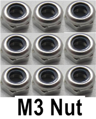 WL915 Boat Parts-23-02 Propeller anti-slip nut-(9pcs)-6X4mm-M3 stainless steel ,Wltoys WL915 RC Boat spare parts,WL915 Brushless motor RC Racing boat Accessories