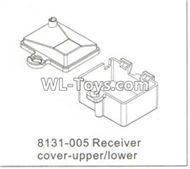 DHK RAZ-R Receiver cover-Upper and Lower Parts-8131-005,DHK RAZ-R Parts,DHK Wolf Parts,DHK HOBBY 8133 8134 Parts