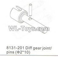 DHK RAZ-R Parts-Diff gear joint and Pins(2X10mm) Parts-8131-201,DHK RAZ-R Parts,DHK Wolf Parts,DHK HOBBY 8133 8134 Parts