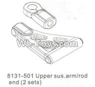 DHK RAZ-R Parts-Upper sus.arm and Rod end(2 sets) Parts-8131-501,DHK RAZ-R Parts,DHK Wolf Parts,DHK HOBBY 8133 8134 Parts