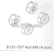 DHK RAZ-R Parts-Nut-M6 Parts-8131-707,DHK RAZ-R Parts,DHK Wolf Parts,DHK HOBBY 8133 8134 Parts